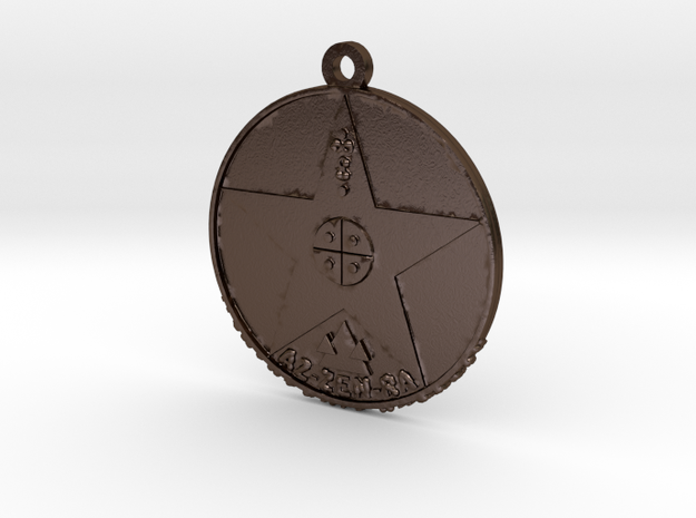 Metatronia Therapy Pendant in Polished Bronze Steel