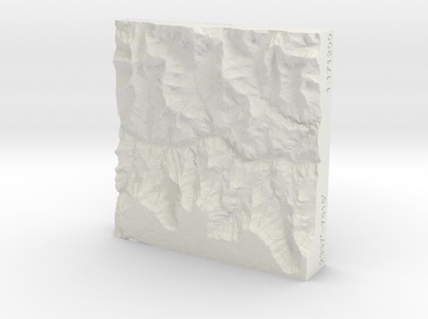 3'' Grand Canyon, Arizona, USA, Sandstone 3d printed