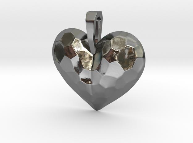 Heart Pendant in Premium Silver