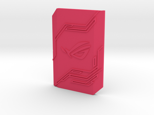 2-way SLI bridge cover (7cm) - ROG in Pink Processed Versatile Plastic