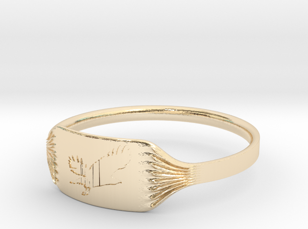 """Ring """"Eagle"""" in 14K Yellow Gold"""