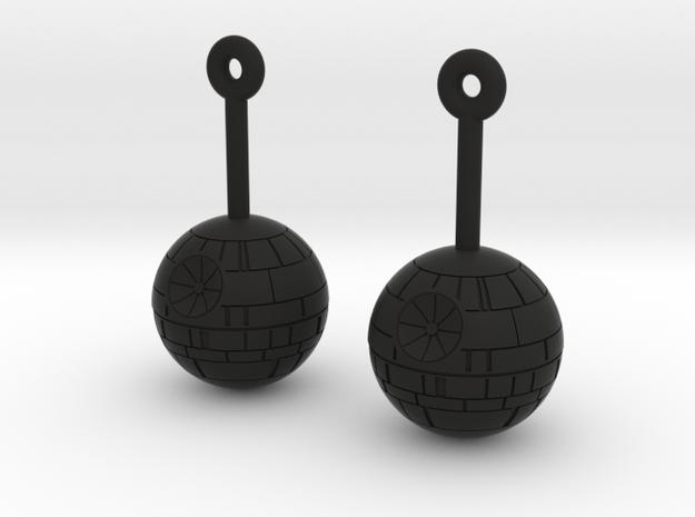 DeathStar earring in Black Strong & Flexible