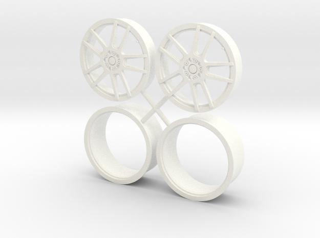10 Spoke Racing Pair 1/12 in White Processed Versatile Plastic