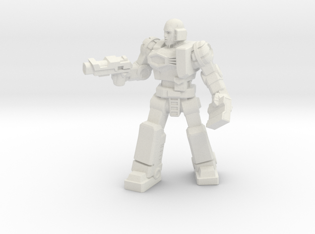 Diaclone Patrol Leader, 35mm Mini in White Natural Versatile Plastic