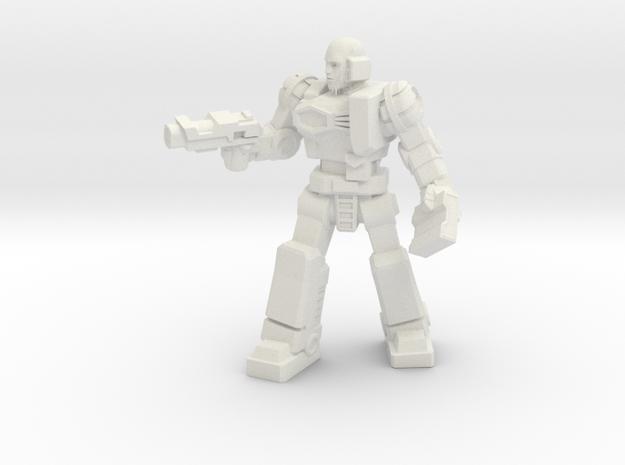 Diaclone Patrol Leader, 35mm Mini in White Natural Versatile Plastic