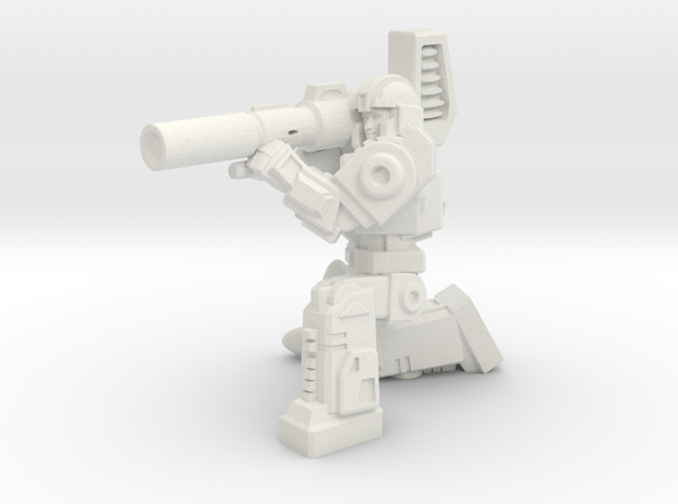 Diaclone Missle Trooper, 35mm Mini in White Natural Versatile Plastic