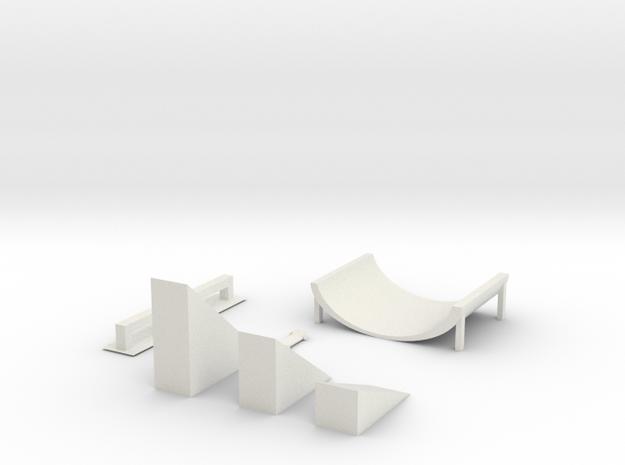 Skateboard Kit in White Natural Versatile Plastic