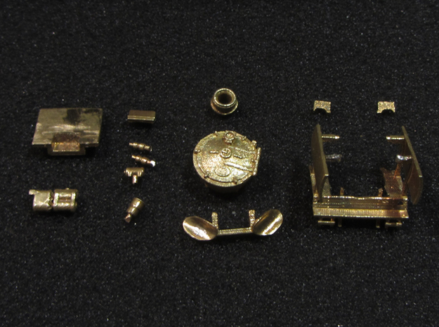 DSB class N kit for N scale BR 50 3d printed The content of the kit, you will get all you see in this picture.