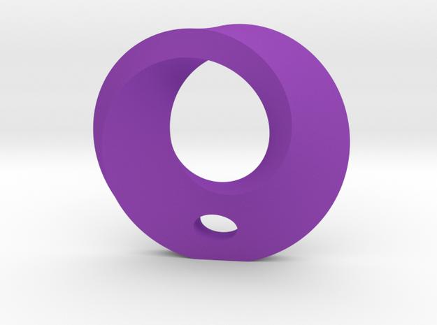 Mobius Porcelain Pendant in Purple Processed Versatile Plastic