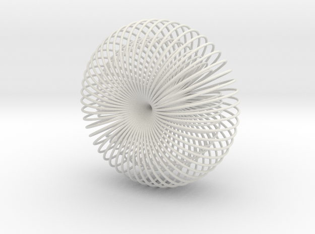 Double Wire Torus 75cm in White Strong & Flexible