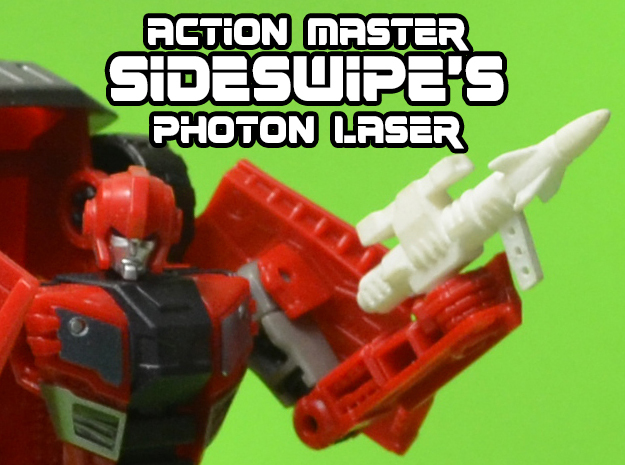 5mm Sideswipe Photon Laser (Action Master Weapon) in White Strong & Flexible