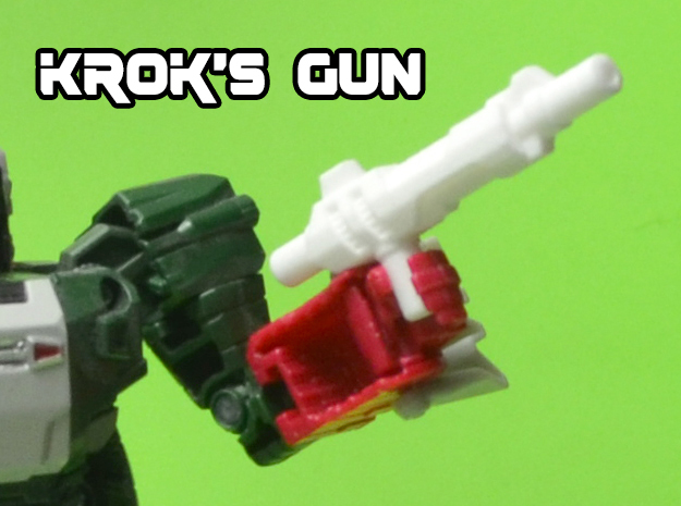 Krok's Electro Pulsator Gun (5mm) in White Strong & Flexible