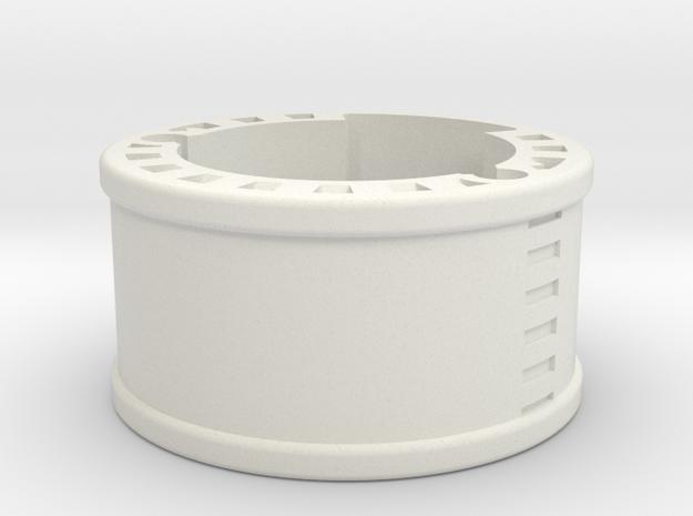 GCM114-03-01 - 20mm bass speaker holder in White Natural Versatile Plastic