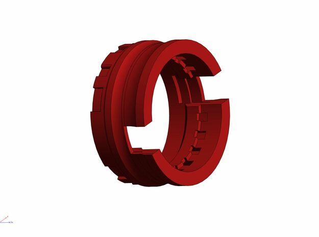 GCM114-03-03 - 28mm Bass speaker holder in White Natural Versatile Plastic