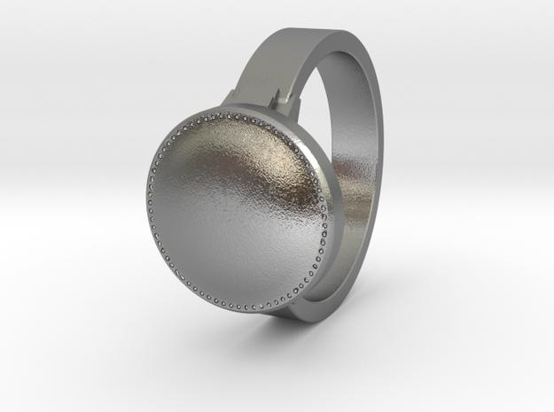 Dark Souls inspired ring in Raw Silver