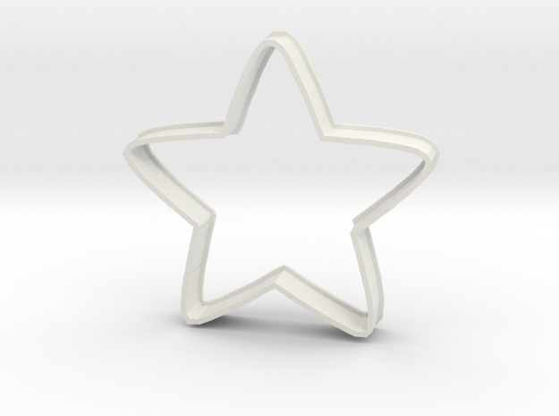 Cookie Cutestar in White Natural Versatile Plastic