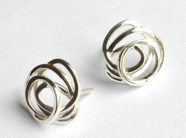 Wind Element Earring in Polished Silver