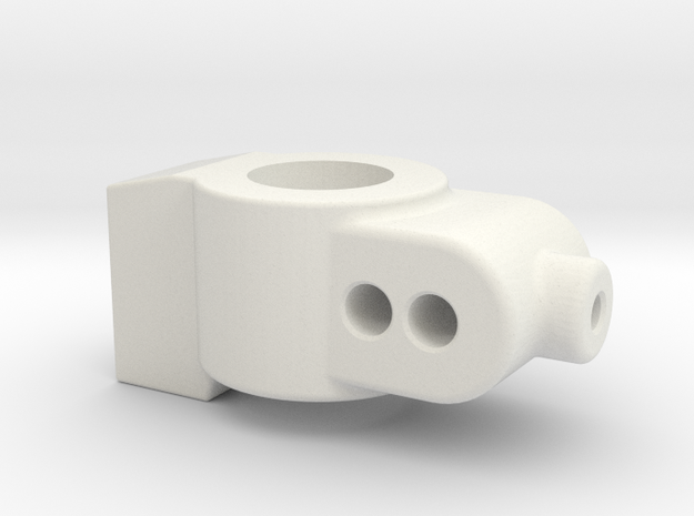 1 DEGREE - CUSTOM WORKS DO REAR HUB CARRIER in White Natural Versatile Plastic