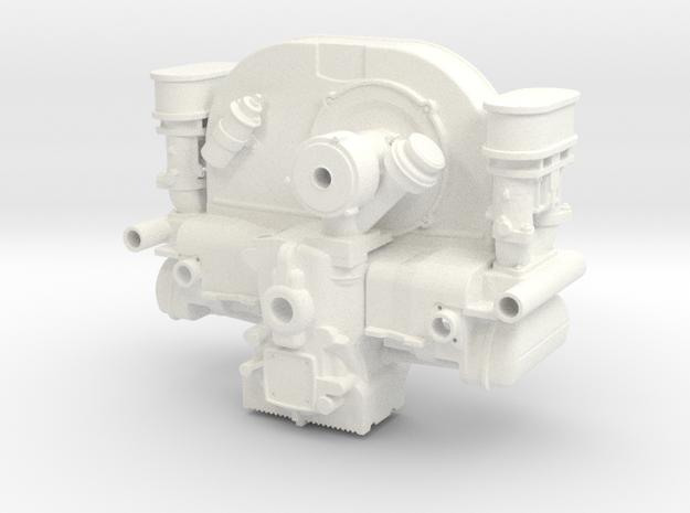 FF10001 Flat 4 Engine Part 1 of 2 in White Processed Versatile Plastic