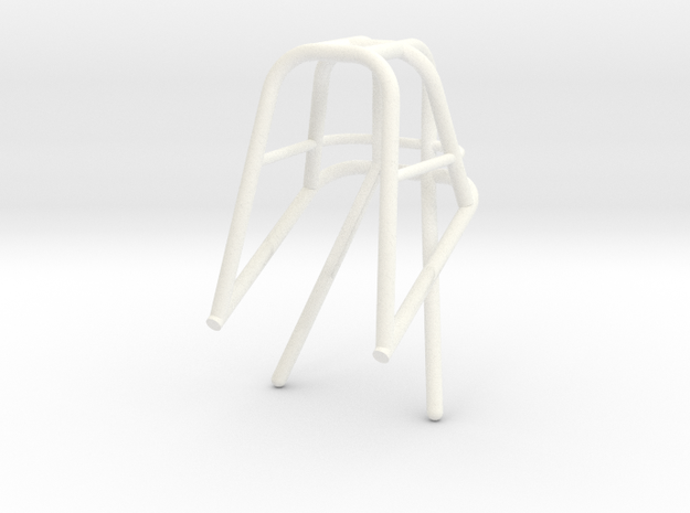 Roll Cage 1/12 Frame Top Only Narrow  in White Processed Versatile Plastic