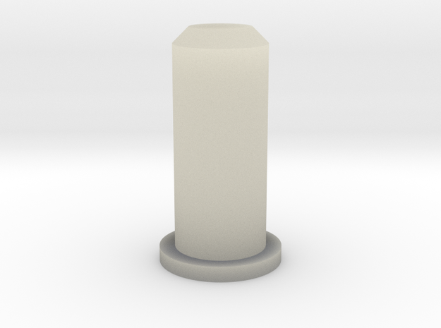 Barrel Plug 2/2 in Transparent Acrylic