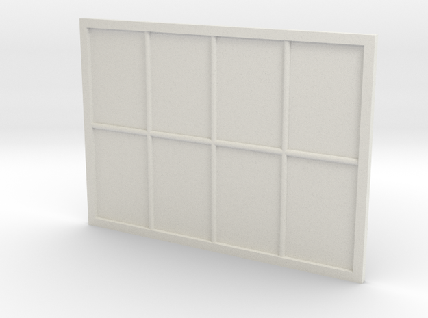 1:24 Scale Colonial Style Window 5' x 7' in White Strong & Flexible