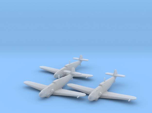 Messerschmitt Bf-109 G-4 'Gustav' 1:200 x3 FUD in Smooth Fine Detail Plastic: 1:200