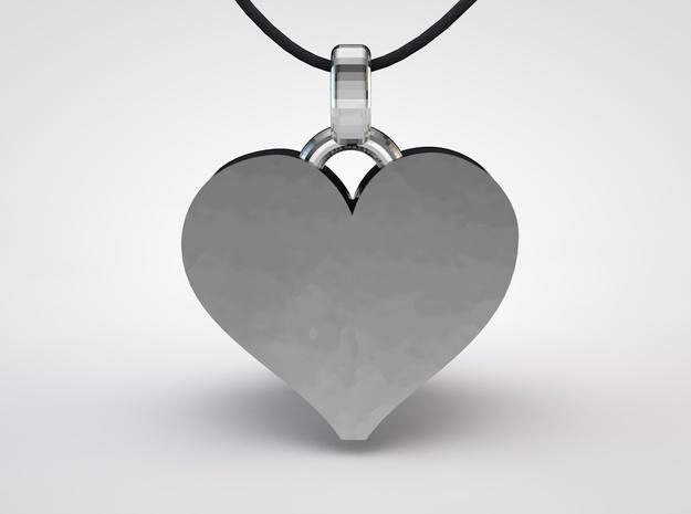 Heart Pendant Letter Big A 3d printed heart pendant 2