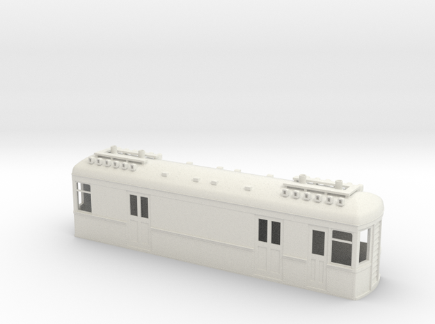 On30 Gas Electric Boxcab long in White Strong & Flexible