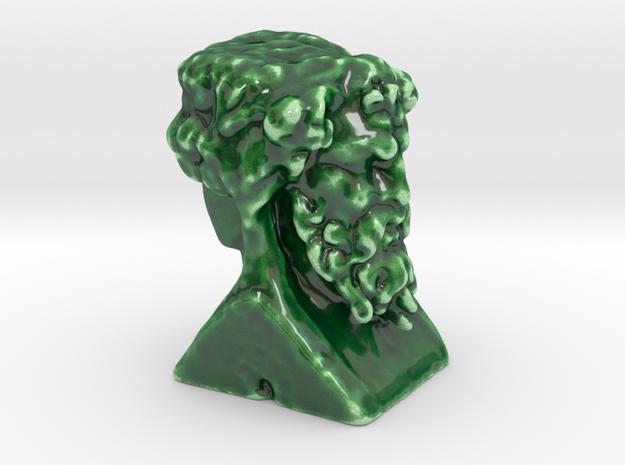 Hermes Double Head  in Gloss Oribe Green Porcelain