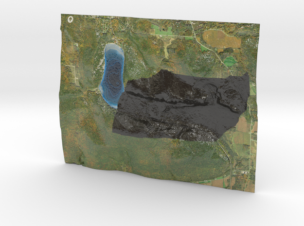 Devil's Lake Map (1:24k)  - Bathymetry in Coated Full Color Sandstone