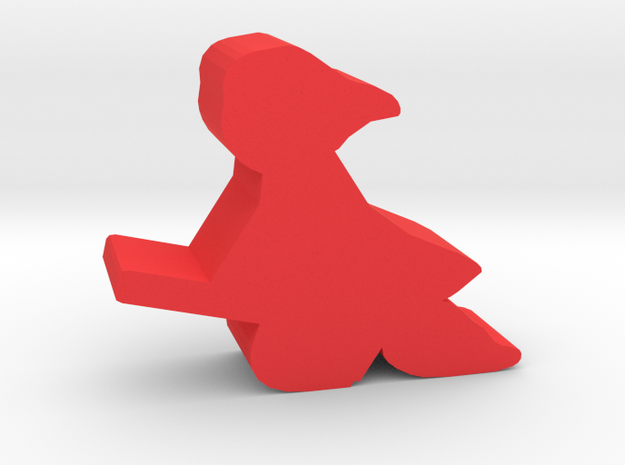 Game Piece, Student Witch, on broom in Red Processed Versatile Plastic