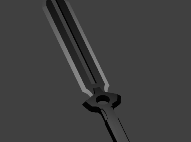 Darker Than Black Sword 3d printed