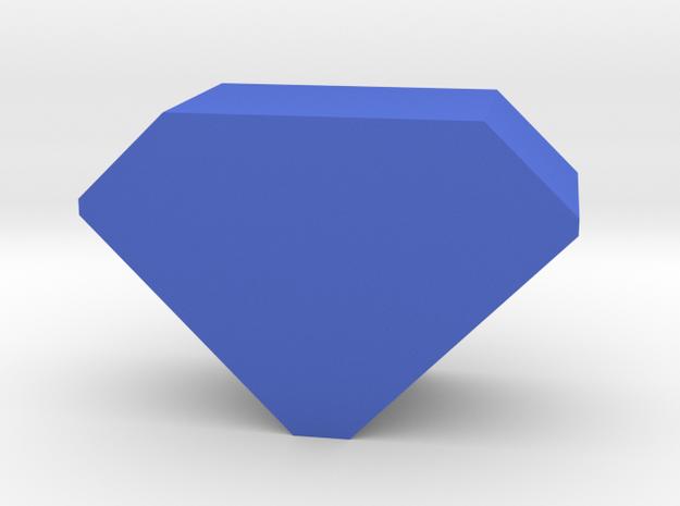 Game Piece, Gem in Blue Processed Versatile Plastic