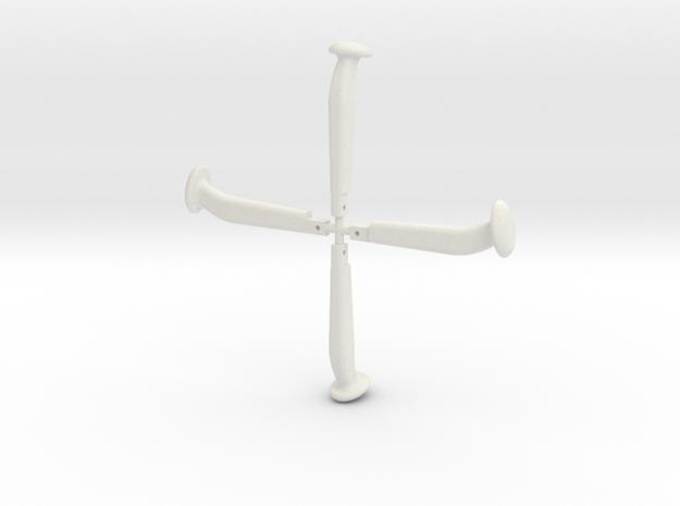 Kupplungsbolzen 1:13,3, 4 Stück in White Natural Versatile Plastic