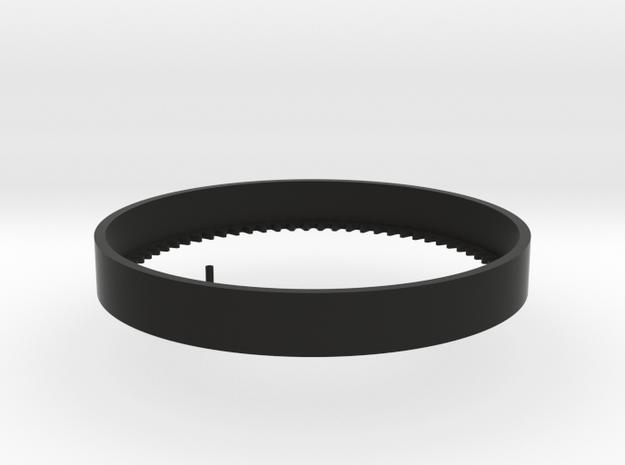 1:6 scale Hasbro HMMWV Turret ring gear in Black Natural Versatile Plastic