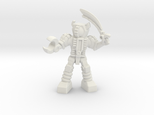 Waruder, Kuwagatrer Giant-Killer, 35mm Mini in White Natural Versatile Plastic