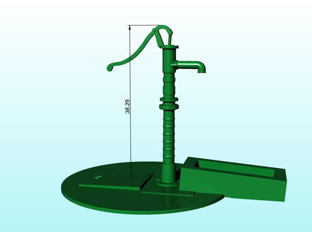 Street pump type: A 1:43( 0 ) scale 1 Pcs 3d printed