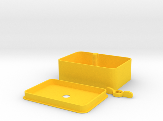 Delux Tobacco Tin in Yellow Processed Versatile Plastic