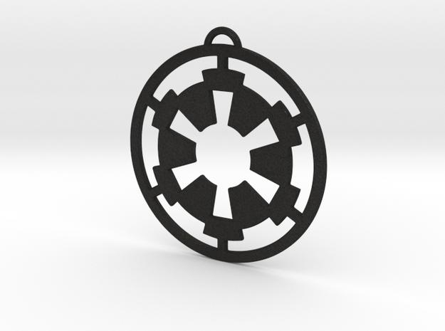 Imperial Pendant in Black Acrylic