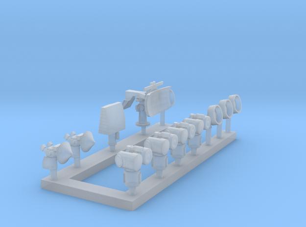 1:350 Scale Modern Aircraft Carrier Radars