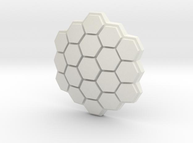 Hexagonal Energy Shield, 5mm grip in White Strong & Flexible