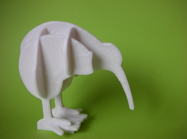 3D Jigsaw Kiwi Bird in White Strong & Flexible: Small