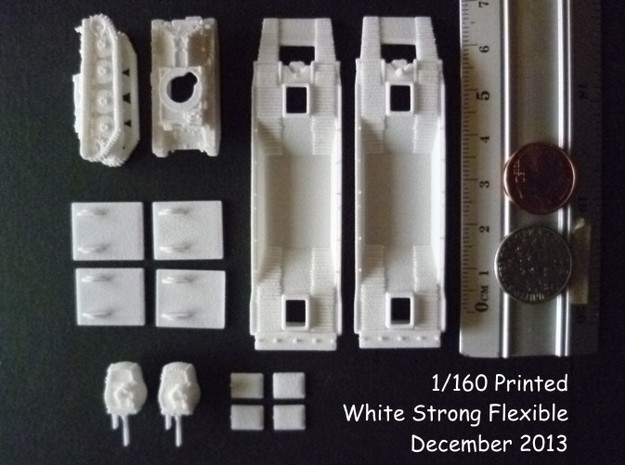 1-160 2x Pz-Tr-W+ PzKpfw 38t For BP-42 3d printed