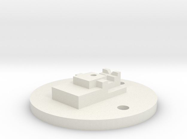 Basic Adapter for the Nimble in White Natural Versatile Plastic