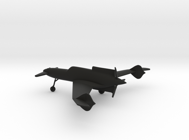 Curtiss-Wright XP-55 Ascender in Black Natural Versatile Plastic: 1:144