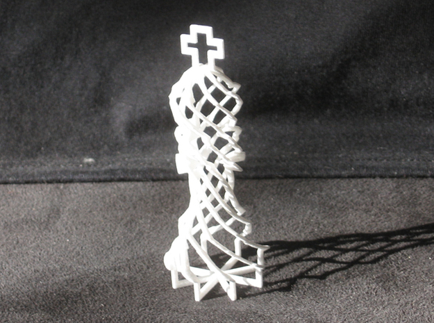 Twisted Chess 3d printed King