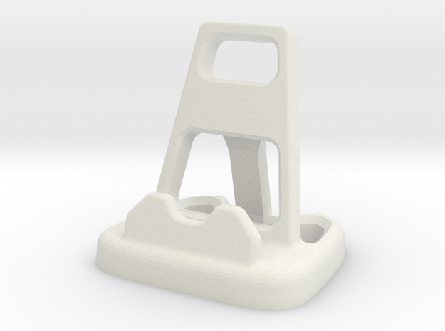 Angular Cellphone / Tablet Stand in White Strong & Flexible