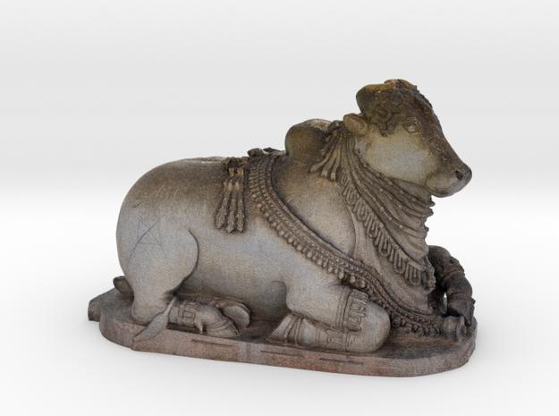 Indian Sacred Cow - Nandi  in Full Color Sandstone