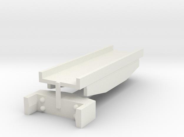 T-gauge recht brugdeel  in White Natural Versatile Plastic